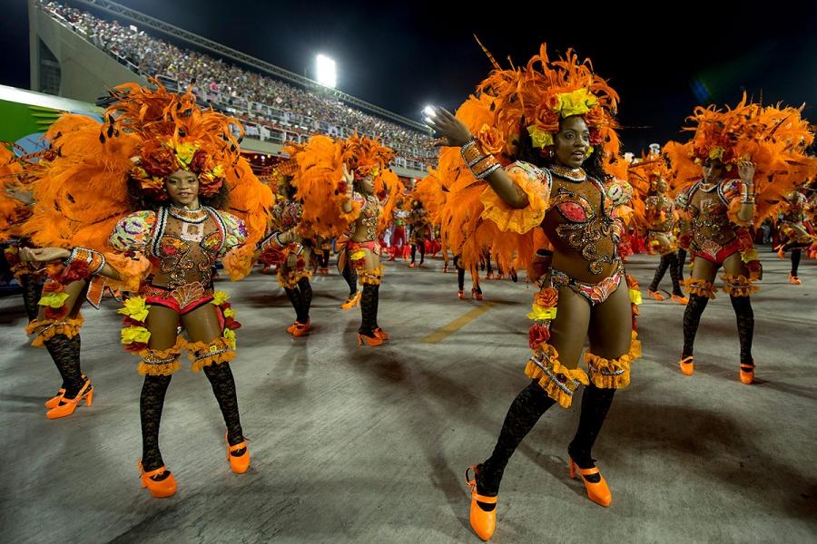 Бразильский карнавал, Рио-де-Жанейро, Бразилия, Южная Америка